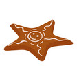 gingerbread star icon isometric style vector image vector image