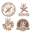 Gluten Free Stamps vector image vector image