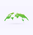green world map icon vector image