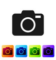 grey photo camera icon isolated on white vector image