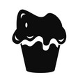 halloween cake icon simple style vector image vector image