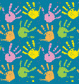 hand stamp seamless pattern paint stain background vector image vector image