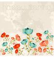 Happy spring Poppy flower vector image vector image