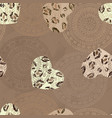 heart seamless pattern jaguar wallpaper vector image vector image