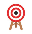 icon target in flat design stock vector image vector image