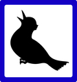 Icon With The Bird vector image vector image