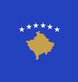 kosovo national flag vector image