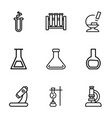 lab icons vector image vector image