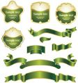 labels and banners vector image vector image