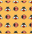 ladybirds and beetles pattern vector image