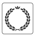 Laurel wreath icon crown flat vector image vector image