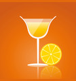 lemon drink on an orange background vector image