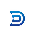 letter d logo template vector image vector image