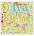 Long Term Debt Problems text background wordcloud vector image vector image