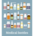 Medicine bottles collection vector image vector image