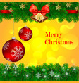 merry christmas decoration from pine bell vector image vector image
