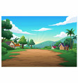 mountain and sky color bright vector image vector image