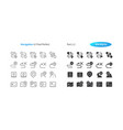 navigation ui pixel perfect well-crafted vector image vector image
