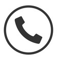 o2021phone simple flat icon telephone support vector image