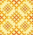 Orange crosses seamless pattern - abstract vector image vector image