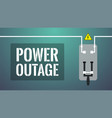power outage concept turned off knife switch vector image vector image