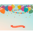 Retro holiday background with colorful balloons vector image vector image