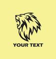 roaring lion logo design vector image vector image