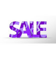 sale violet banner paper cut design summer sale vector image