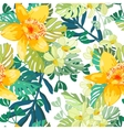 Seamless pattern of exotic flowers vector image vector image