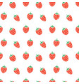 seamless strawberry fruit pattern vector image