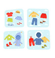 season clothes winter summer autumn and spring vector image vector image