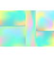 set liquid chromatic holographic texture vector image