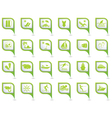 Set of 24 pointers sea and beach Green vector image vector image