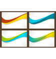 Set of colourful wave templates banners vector image
