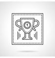 Sport trophy flat line icon vector image vector image