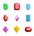 treasure icons set flat style vector image