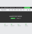 ui design website template for business vector image vector image