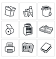 Waste paper icons vector image vector image