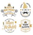 wish you a very happy birthday dear friend badge vector image