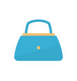 womens handbag blue fashion vector image vector image