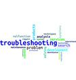 word cloud troubleshooting vector image