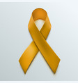yellow ribbon sign isolated on white background vector image vector image
