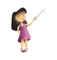 young girl with star scepter vector image vector image