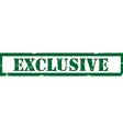 Green stamp exclusive vector image
