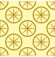 colored yellow circle seamless pattern shape art vector image