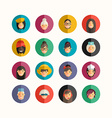 Flat Design Professional People Avatar Icon Set vector image