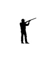 hunting silhouettes vector image