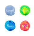 Watercolor circle design elements vector image