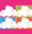 a set of cloud party blank template vector image vector image