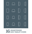 Abstract Minimal Style Modern Mobile Smartphone vector image vector image